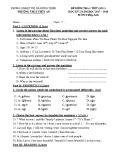 Đề kiểm tra 1 tiết HK 1 môn Tiếng Anh 7 năm 2017-2018 có đáp án - Trường THCS Thủy An (Đề số 1)