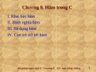 Bài giảng Lập trình C: Chương 8 - Ngô Công Thắng