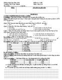 Đề kiểm tra 1 tiết HK 1 môn Địa lý 8 năm 2017-2018 có đáp án - Trường THCS Lộc Thành