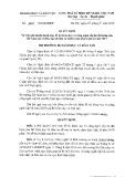 Quyết định số 3824/QĐ-BGDĐT
