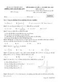 Đề thi khảo sát lần 1 môn Toán lớp 12 năm 2018-2019 - THPT Chuyên Bắc Ninh - Mã đề 108