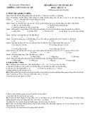 Đề thi khảo sát chuyên đề môn Vật lí lớp 11 năm 2017-2018 - THPT Ngô Gia Tự