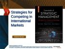 Lecture Essentials of strategic management: The quest for competitive advantage (4e) - Chapter 7
