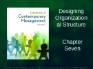 Lecture Essentials of contemporary management (6/e): Chapter 7 - Gareth R. Jones, Jennifer M. Geor