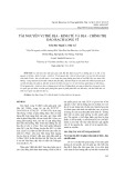 Tài nguyên vị thế địa - kinh tế và địa - chính trị đảo Bạch Long Vĩ