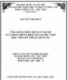 Khóa luận tốt nghệp: Ứng dụng phân hệ sưu tập số của phần mềm Libol 6.0 tại Thư viện Học viện Kỹ thuật Quân sự