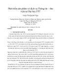 Tóm tắt luận văn Thạc sĩ: Phát triển sản phẩm và dịch vụ thông tin - thư viện tại Đại học FPT