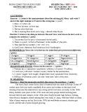Đề kiểm tra 1 tiết HK1 môn Tiếng Anh 9 năm 2017-2018 có đáp án - Trường THCS Thủy An (Bài kiểm tra số 1)
