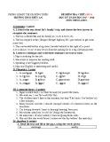 Đề kiểm tra 1 tiết HK1 môn Tiếng Anh 9 năm 2017-2018 có đáp án - Trường THCS Thủy An (Bài kiểm tra số 2)