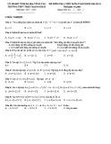 Đề kiểm tra 1 tiết Đại số 10 chương 1 năm 2017-2018 có đáp án - Trường THPT Trần Quang Khải