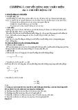 Bài giảng Chuyển động học chất điểm - Bài 1: Chuyển Động Cơ
