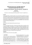 Phân tích độ tin cậy lưới điện trung áp sử dụng phương pháp cây sự cố