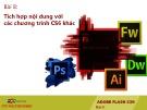 Bài giảng Thiết kế đa truyền thông với Adobe Flash CS6: Học phần H