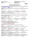 Đề kiểm tra 1 tiết HK1 môn Vật lí 10 năm 2017-2018 có đáp án - Trường PTDTNT Tỉnh