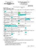 Đề kiểm tra 1 tiết HK1 môn Hóa học 10 năm 2018-2019 có đáp án - Trường THPT Hòa Hiệp số 2