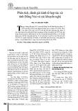 Phân tích, đánh giá kinh tế hợp tác xã tỉnh Đồng Nai và các khuyến nghị