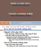 Bài giảng Dược lý học thú y: Chương 8 - ThS. Đào Công Duẩn, ThS Nguyễn Thành Trung