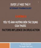 Bài giảng Dược lý học thú y: Chương 4 - ThS. Đào Công Duẩn, ThS Nguyễn Thành Trung