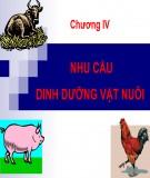 Bài giảng Dinh dưỡng động vật: Chương 4 - TS. Lê Việt Phương