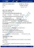 Đề kiểm tra 1 tiết môn Địa lí lớp 9 năm 2017 - THCS Phương Trung