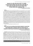 Nghiên cứu mối liên quan giữa tỷ lệ nhiễm ký sinh trùng đường tiêu hóa với sự hiểu biết và thực hành các biện pháp vệ sinh phòng bệnh ở cộng đồng dân cư xã Vinh Thái