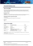 Bảng thông số kỹ thuật Solvalitt Midtherm Alu