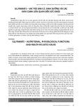Glutamate - Vai trò sinh lý, dinh dưỡng và các khía cạnh liên quan đến sức khỏe