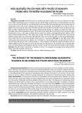Hiệu quả điều trị của phác đồ 4 thuốc có Bismuth trong điều trị nhiễm helicobacter pylori