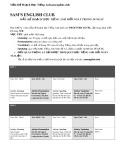 Mẫu kế hoạch học tiếng Anh