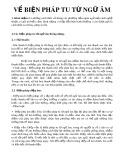 Về biện pháp tu từ ngữ âm