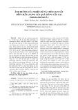 Ảnh hưởng của nhiệt độ và thời gian sấy đến chất lượng của quả mãng cầu gai (Annona muricata l.)