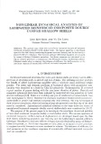 Non-linear dynamical analysis of laminated reinforced composite doubly curved shallow shells