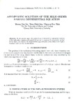 Asymptotic solution of the high order partial differential equation