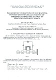 Parametric vibration of mechanical system with several degrees of freedom under the action of electromagnetic force