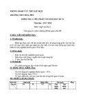 Đề kiểm tra 1 tiết HK2 môn Ngữ Văn 6 năm 2017-2018 có đáp án - Trường THCS Hòa Phú (Phần Văn học)