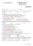 Đề kiểm tra giữa HK 2 môn Vật lí lớp 10 năm 2017-2018 - THPT Chuyên Lương Thế Vinh - Mã đề 485