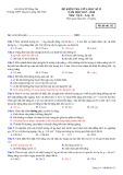 Đề kiểm tra giữa HK 2 môn Vật lí lớp 10 năm 2017-2018 - THPT Chuyên Lương Thế Vinh - Mã đề 132