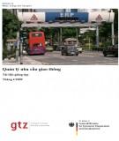 tài liệu giảng dạy - quản lý nhu cầu giao thông: phần 1