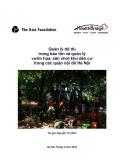 Quản lý đô thị trong bảo tồn quản lý vườn hoa sân chơi khu dân cư trong các quận nội đô Hà Nội