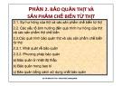 Bài giảng Chế biến thịt: Phần 2 - ThS. Hồ Thị Nguyệt Thu