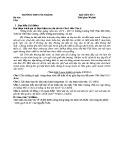Đề kiểm tra bài viết số 3 môn Ngữ Văn 11 năm 2017-2018 có đáp án - Trường THPT Núi Thành