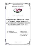 Khóa luận tốt nghiệp: Xây dựng quy trình định lượng đồng thời chuẩn imidacloprid và azoxystrobin bằng phương pháp sắc ký lỏng hiệu năng cao