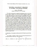 Spectral analysis of vibration in weakly non-linear systems