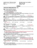 Đề kiểm tra 1 tiết HK1 môn Vật lí 11 năm 2017-2018 có đáp án - Trường PTDNT Tỉnh Bình Thuận