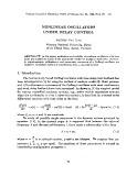 Nonlinear oscillators under delay control