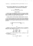 Parametric vibration of the prismatic shaft with hereditary and nonlinear geometry
