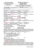 Đề kiểm tra 1 tiết HK1 môn Hóa học 12 năm 2018-2019 có đáp án - Trường THPT Đoàn Thượng