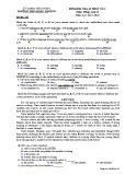 Đề kiểm tra 1 tiết HK1 môn Tiếng Anh 12 năm 2017-2018 có đáp án - Trường THPT Đoàn Thượng