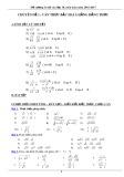 Chuyên đề 1: Căn thức bậc hai và hằng đẳng thức