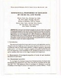 Rheological properties of emulsion of crude oil and water